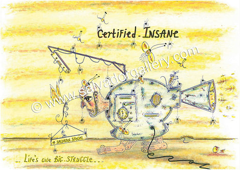 A3 PRINT 'Certified Insane' - A3 Limited Edition Artwork