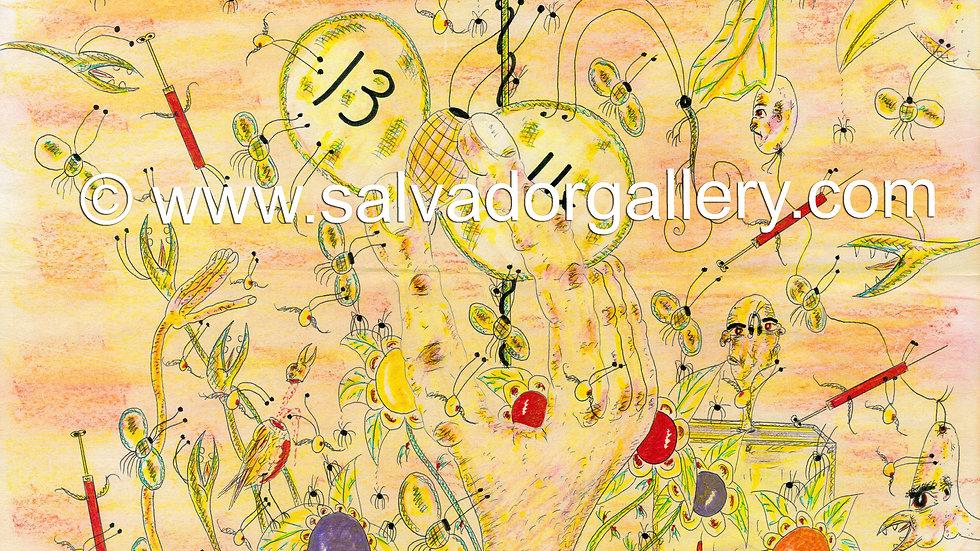 Charles Bronson Salvador Original Artwork - The Egg Cracks