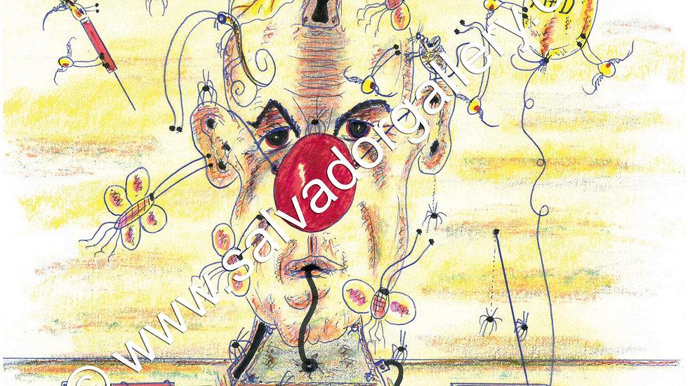 Charles Bronson Salvador Original A4 Artwork - Born Mad