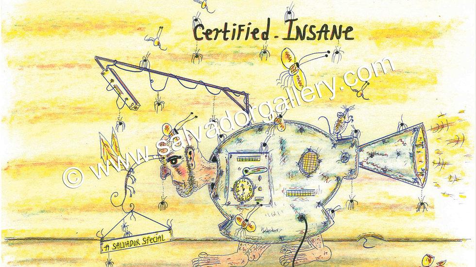 Charles Bronson Salvador Original A4 Artwork - Certified Insane
