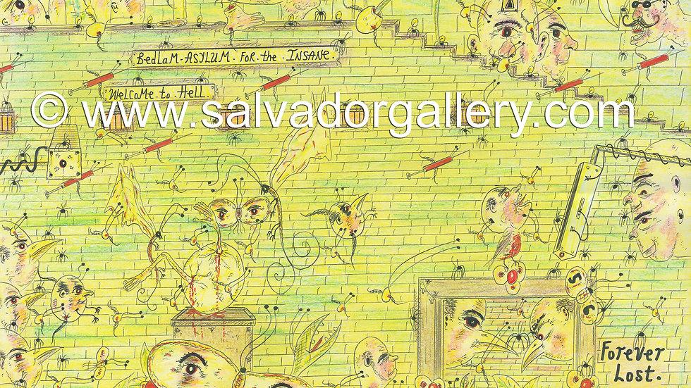 Charles Bronson Salvador Original Artwork - World of Madness