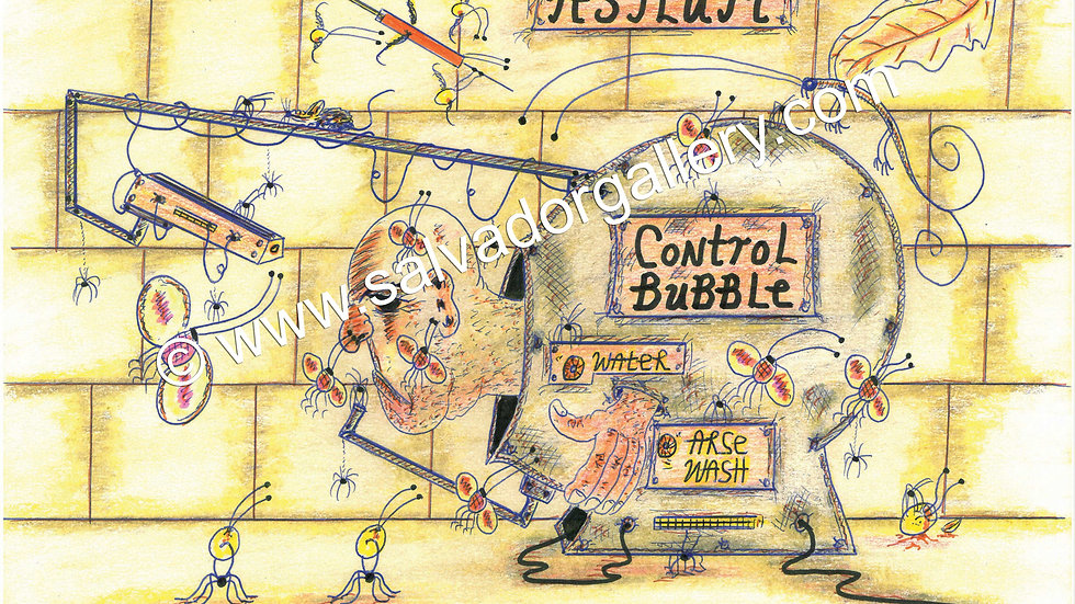 Charles Bronson Salvador Original A4 Artwork - Control Bubble