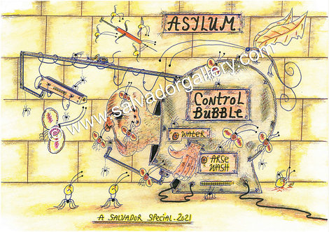 A3 PRINT 'Control Bubble' - A3 Limited Edition Artwork
