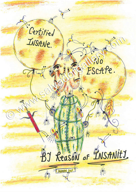 A3 PRINT 'No Escape' - A3 Limited Edition Artwork