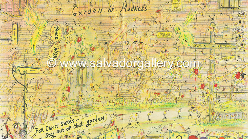 A3 PRINT 'Garden Of Madness' - A3 Limited Edition Artwork 1/250