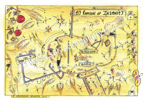 Charles Bronson Salvador Original A4 Artwork - Arse Wash