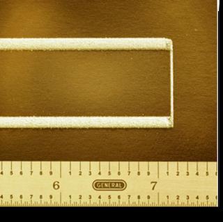 preliminary artifact illustrating sub-millimeter wall