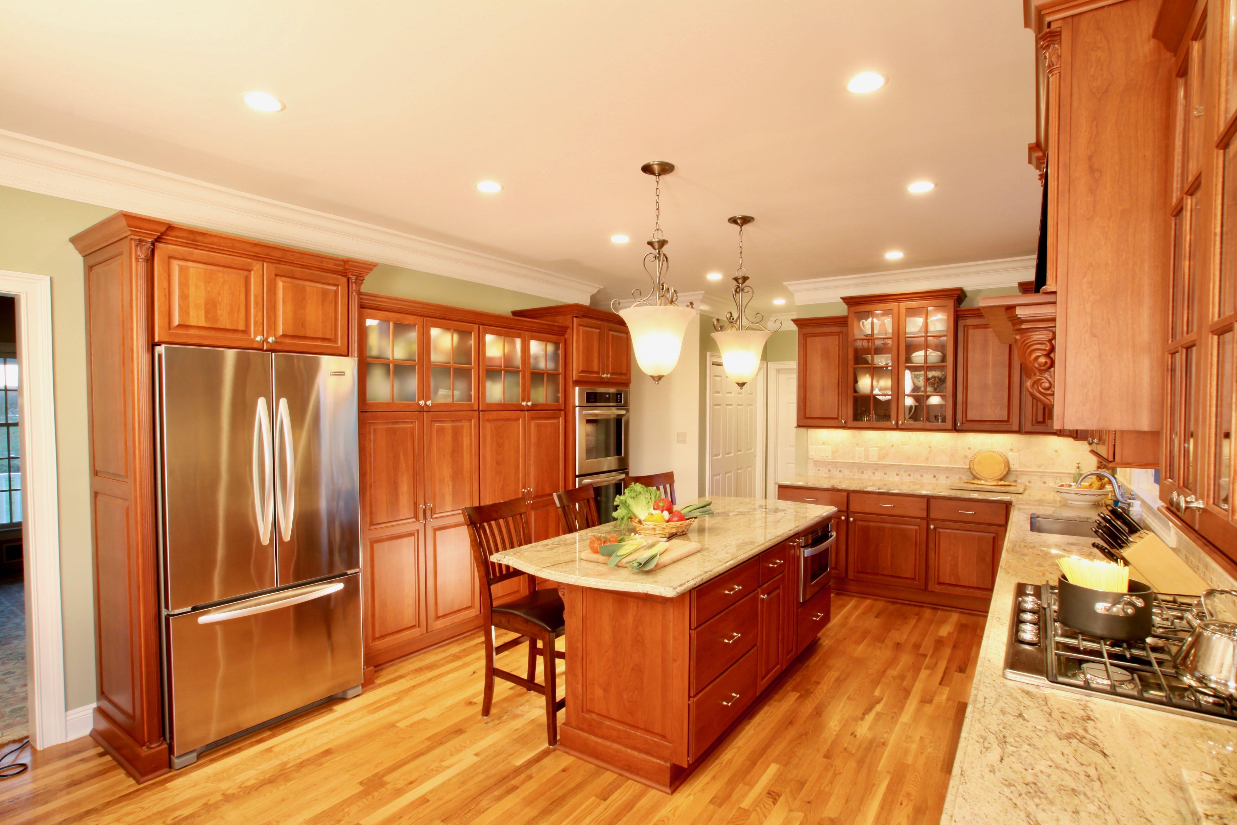 Traditional Cherry Kitchen | Bryhn Design/Build ...