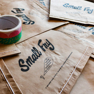 Small Fry 100% biodegradable packaging