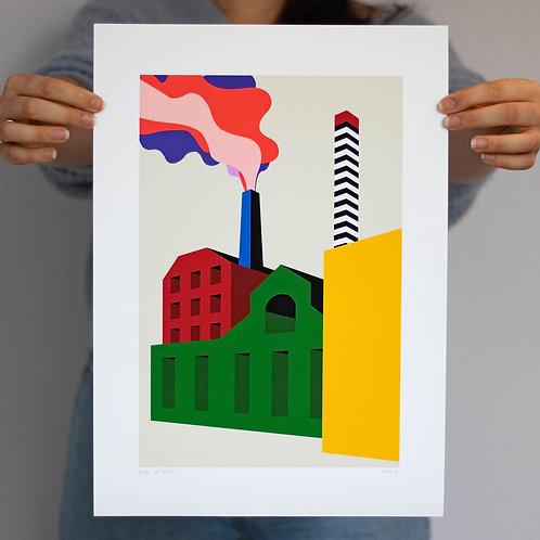 Ashton Canal Towpath print