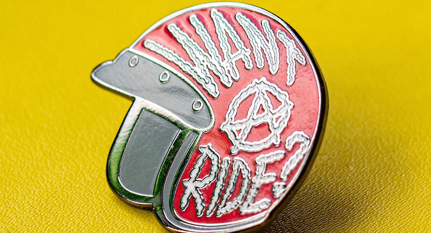Herald Motor co. enamel pin