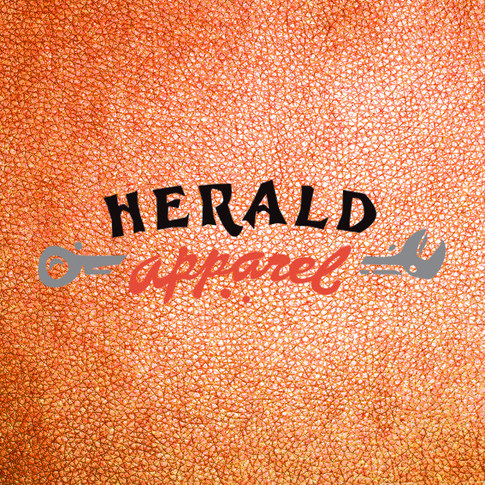 Herald Apparel brand identity: Motorcycle lifestyle clothing and merchandise, Cambridge