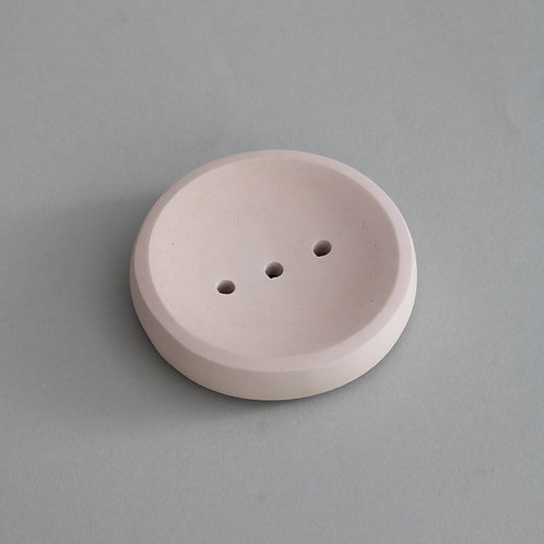 Round Soap Dish in Blush