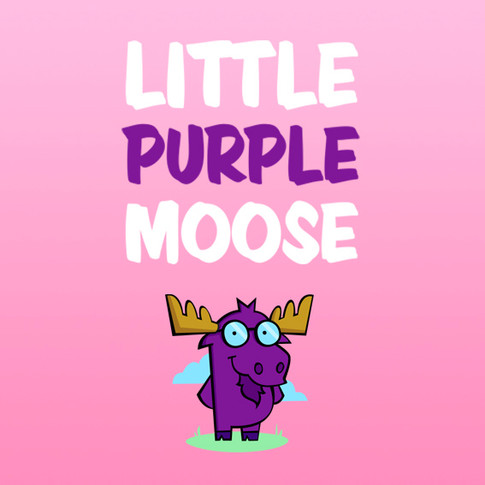 Little Purple Moose brand identity: Cloud based business software, Surrey