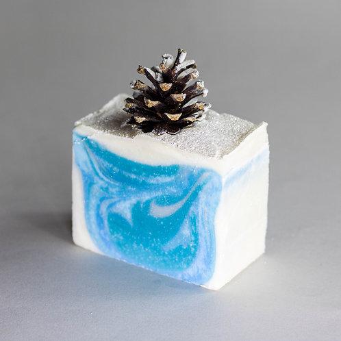 Frosty pine cones