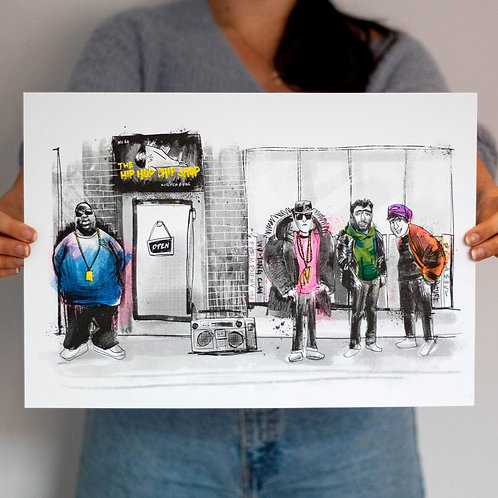 The Hip Hop Chip Shop print