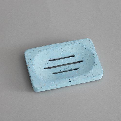 Rectangular Soap Dish in Aqua