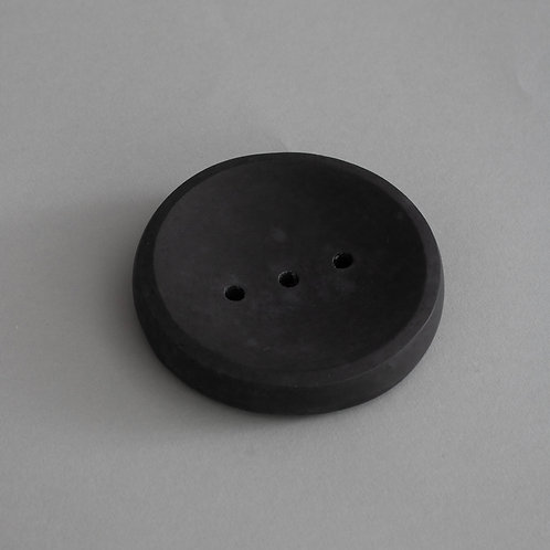 Round Soap Dish in Black