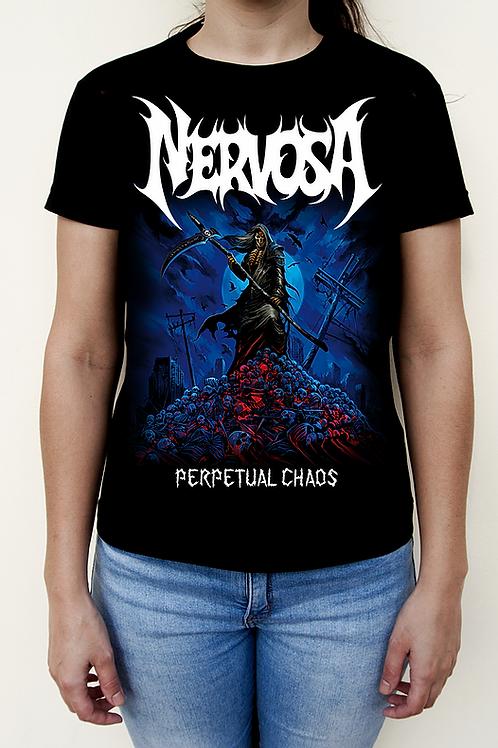 T-Shirt NERVOSA - Perpetual Chaos (Dama)