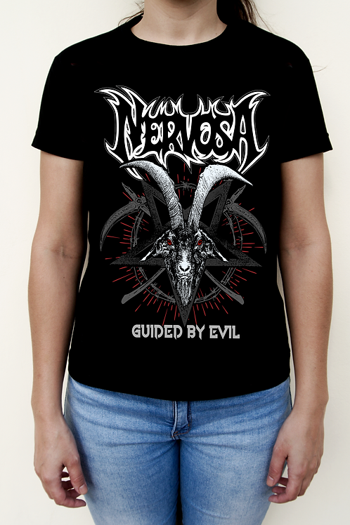 T-Shirt NERVOSA - Guided By Evil - Dama