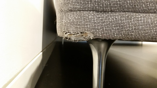 Fabric Office Furniture Damage
