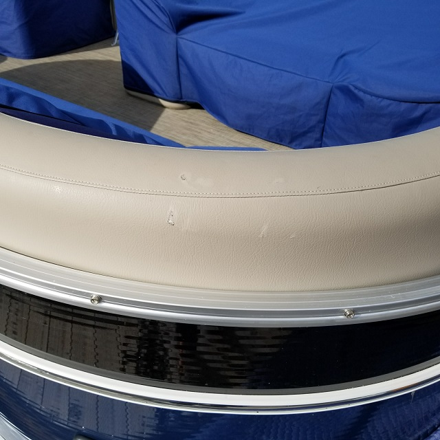 New Pontoon Boat Vinyl Damage