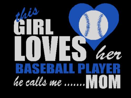 This Girl Loves Her Baseball BLACK Custom T Shirt