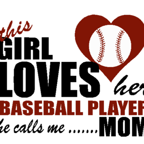 This Girl Loves Her Baseball WHITE Custom T Shirt