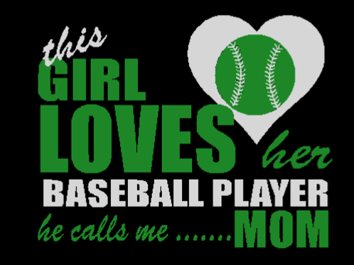 This Girl Loves Her Baseball Player  BLACK Hoodie