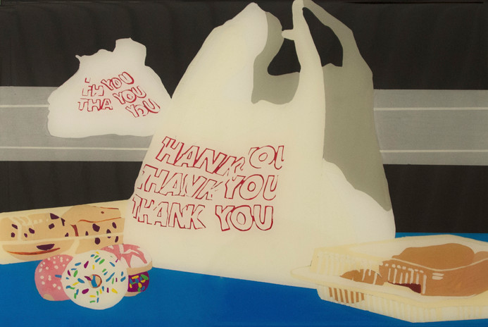 Plastic Bag and Pastries Still life