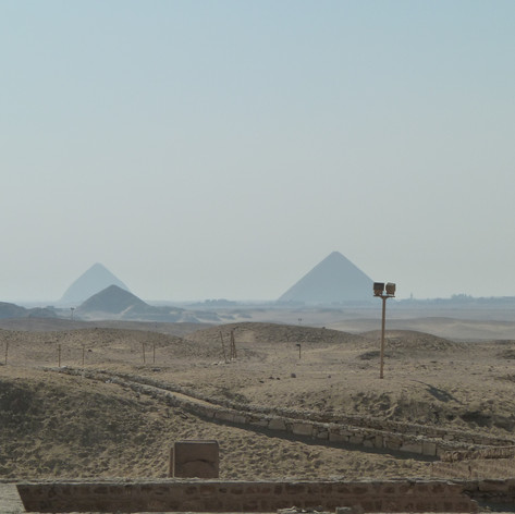 View of the Pyramids of Giza