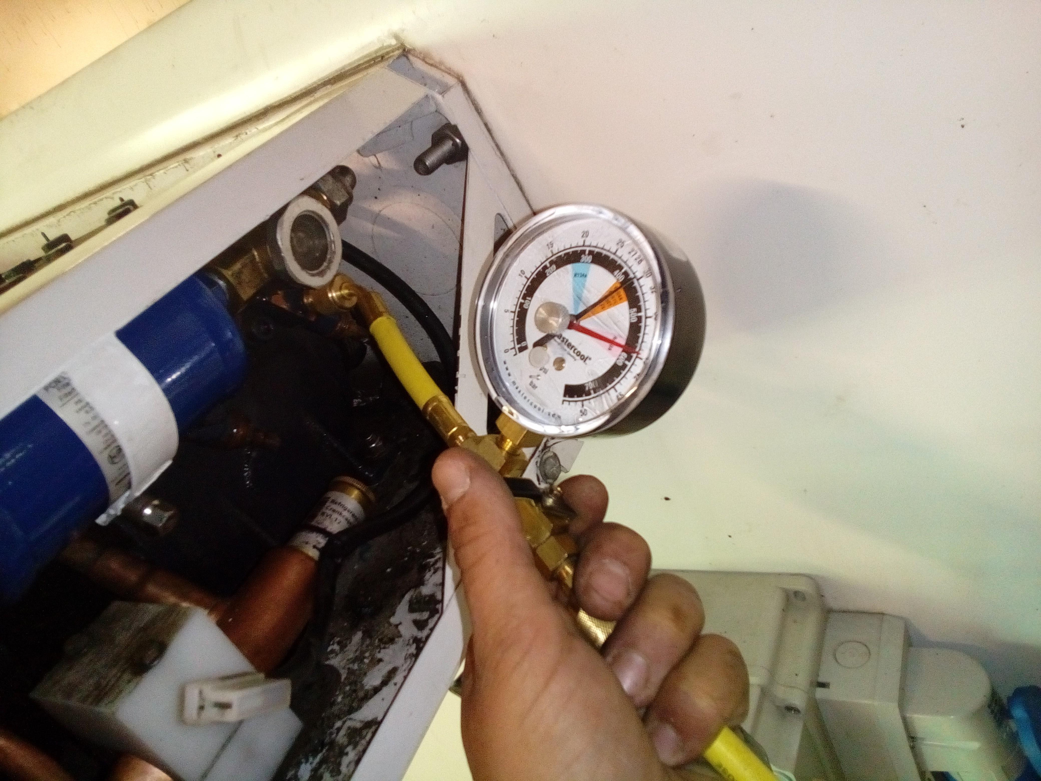 Test d'étanchéité d'un circuit frigo