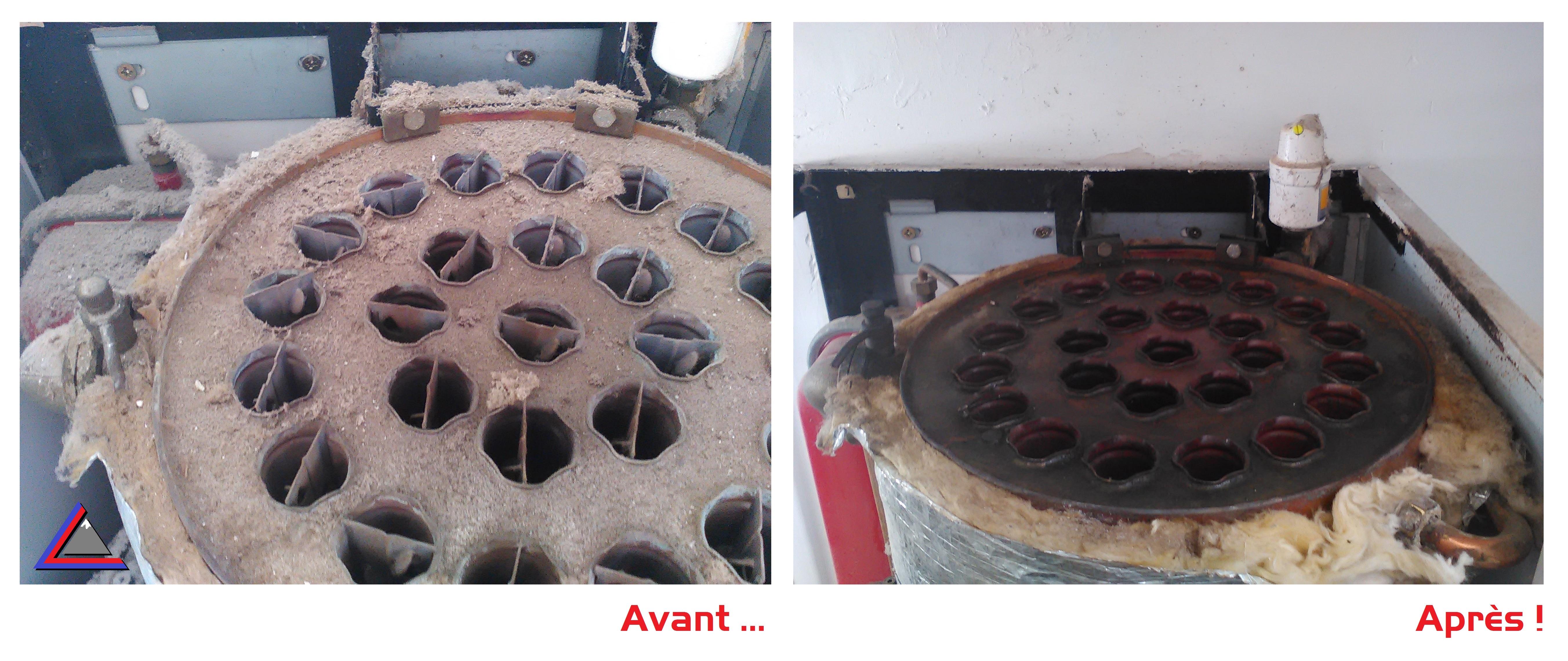 Nettoyage corps de chauffe cuivre