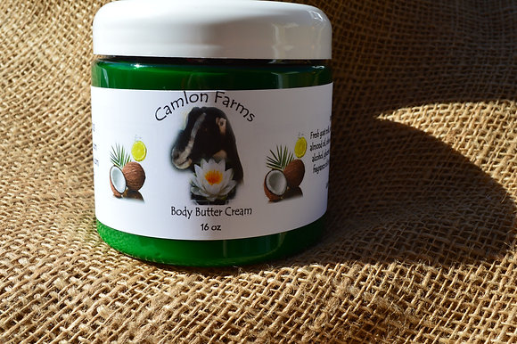 Coconut Citrus Body Cream 16 oz