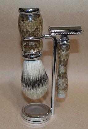 Small Shaving Set made from Prairie Rattlesnake
