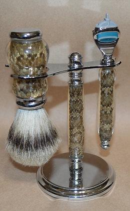 Prairie Rattlesnake Skin Shaving Set