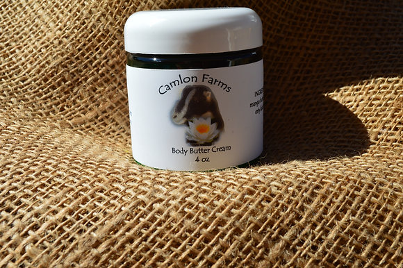 Unscented Body Butter Cream 4oz