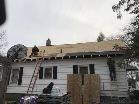 Kalamazoo MI Roofing Cinder Black 14