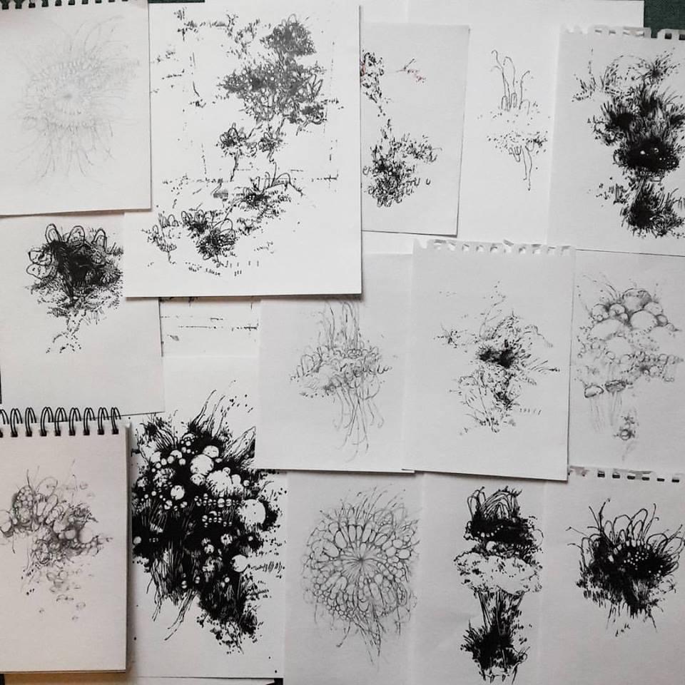Drawings in progress
