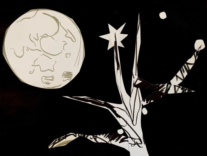 Moon Papercut