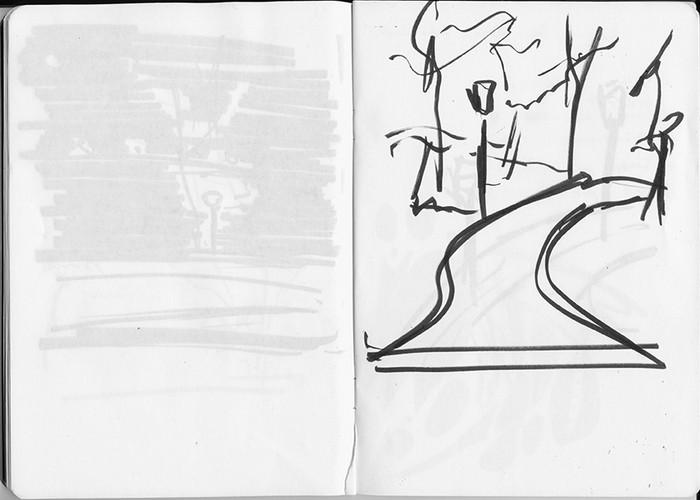 Park At Night Sketch