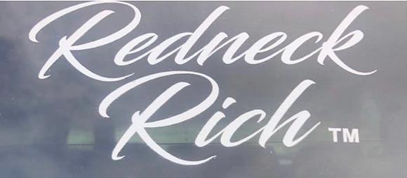 Redneck Rich Signature Logo Sticker