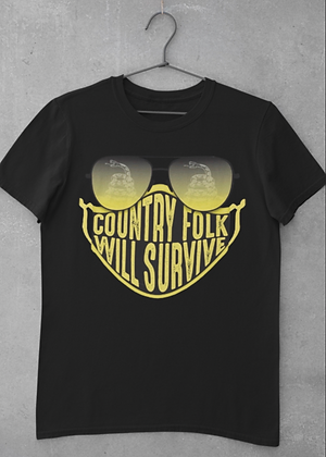 Country Folks Will Survive Mask 2020 Logo