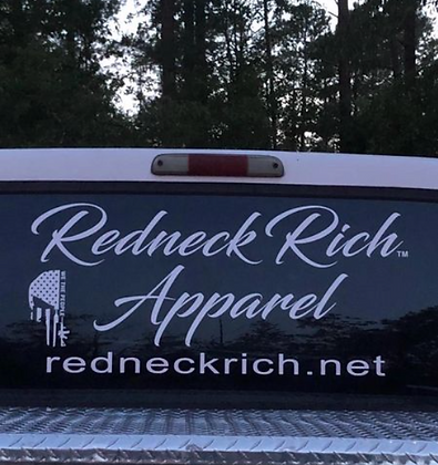 Redneck Rich Large Window Decal