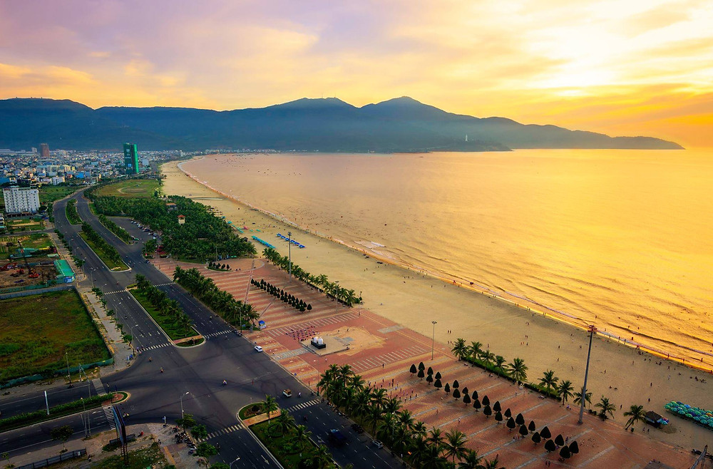 Danang beautiful sightseeing with clean air