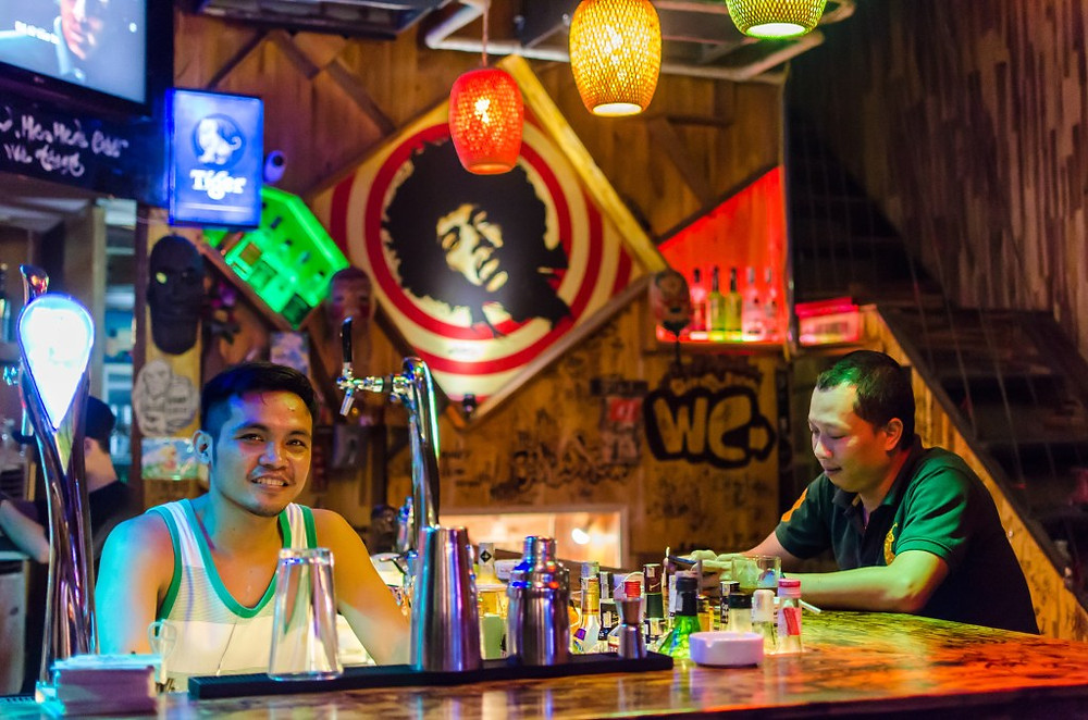 Friendly faces at Simple Man Bar in Da Nang