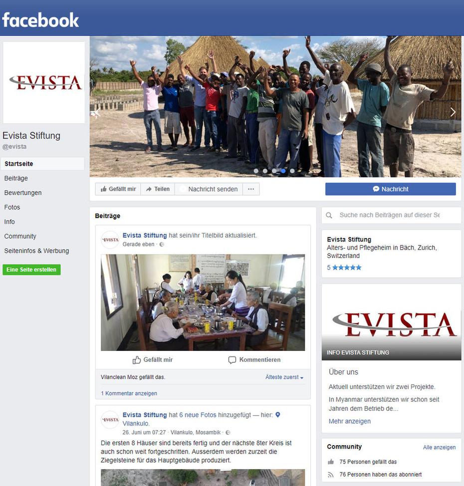 Evista Stiftung auf Facebook