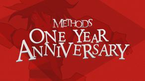 Methods 1 Year Anniversary!
