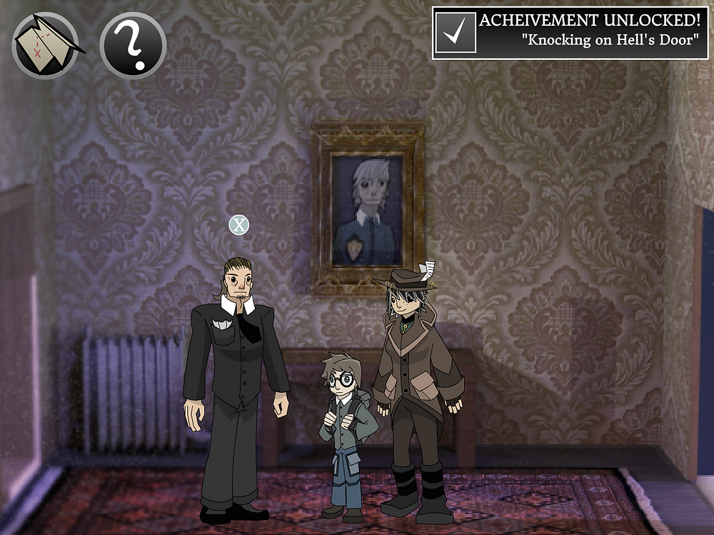 The opening scene in the game.