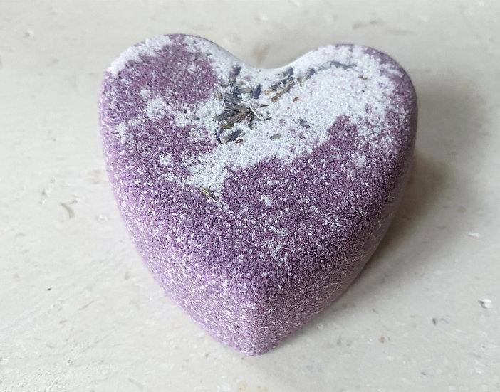 Lavendel badebombe - hjerteformet